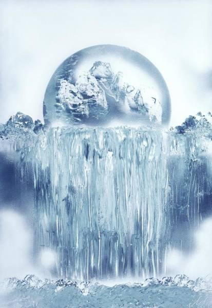 Wall Art - Painting - Ice Waterfall by Nandor Molnar