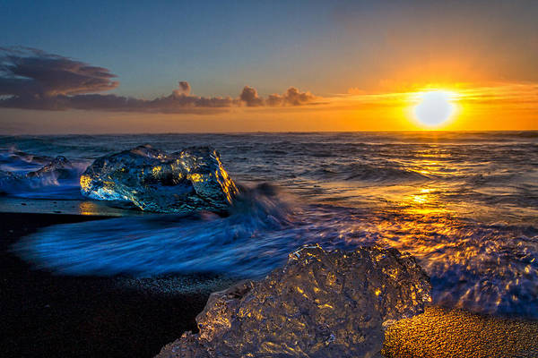 Photograph - Iceberg At Sunrise #2 - Iceland by Stuart Litoff