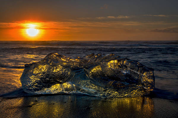 Photograph - Iceberg At Sunrise - Iceland by Stuart Litoff