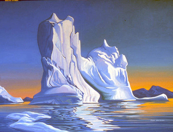 Wall Art - Painting - Iceberg Baffin Bay by Paul Gauthier