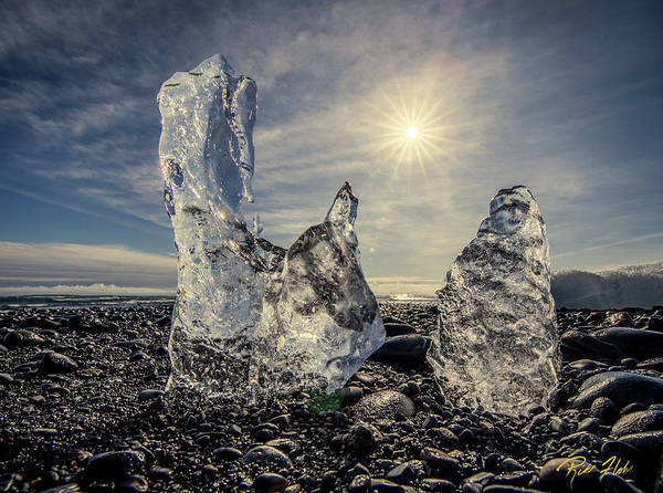 Photograph - Iceberg Fingers Catching The Sun by Rikk Flohr