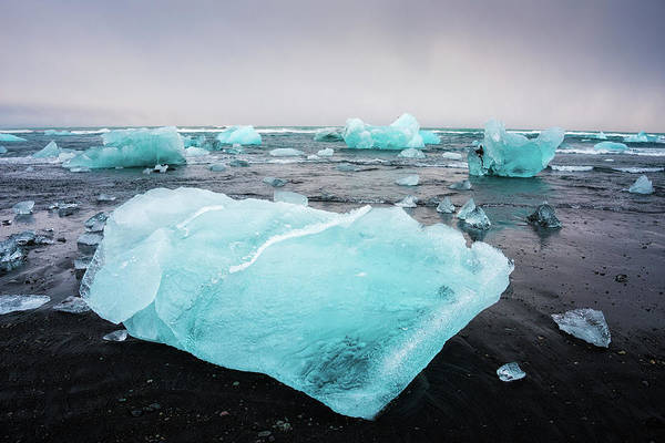 Photograph - Iceberg Pieces In Iceland Jokulsarlon by Matthias Hauser