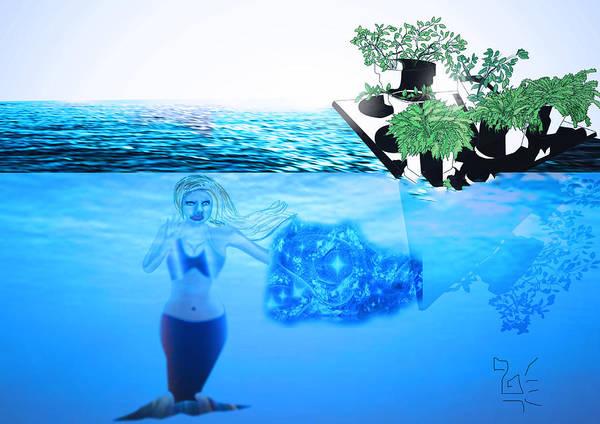Digital Art - Iceberg Top by Tatiana Hallack