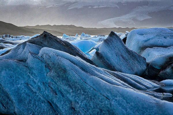 Photograph - Icebergs In Glacier Lagoon #3 - Iceland by Stuart Litoff