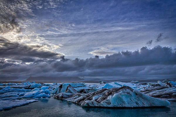Photograph - Icebergs In Glacier Lagoon #7 - Iceland by Stuart Litoff