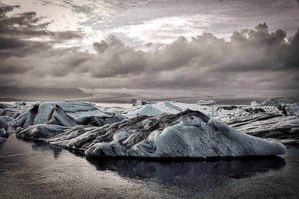 Photograph - Icebergs In Glacier Lagoon - Iceland by Stuart Litoff