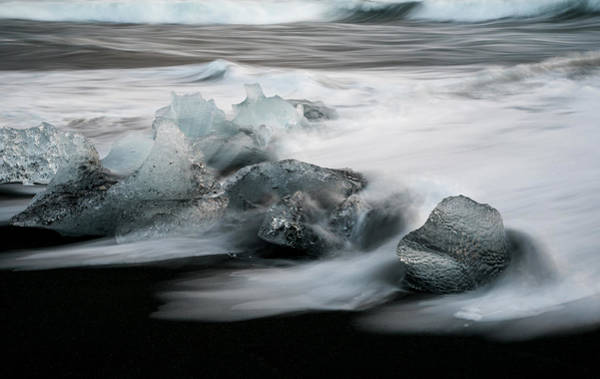 Icelandic Landscapes Wall Art - Photograph - Icebergs In Ice Beach, Iceland by Michalakis Ppalis
