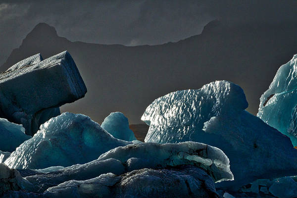 Photograph - Icebergs In The Late Afternoon - Iceland by Stuart Litoff