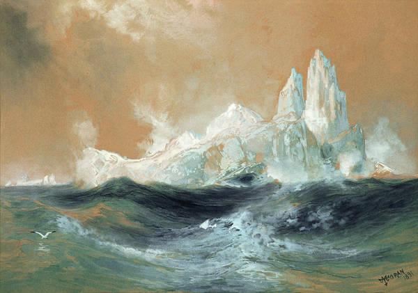 Wall Art - Painting - Icebergs by Thomas Moran