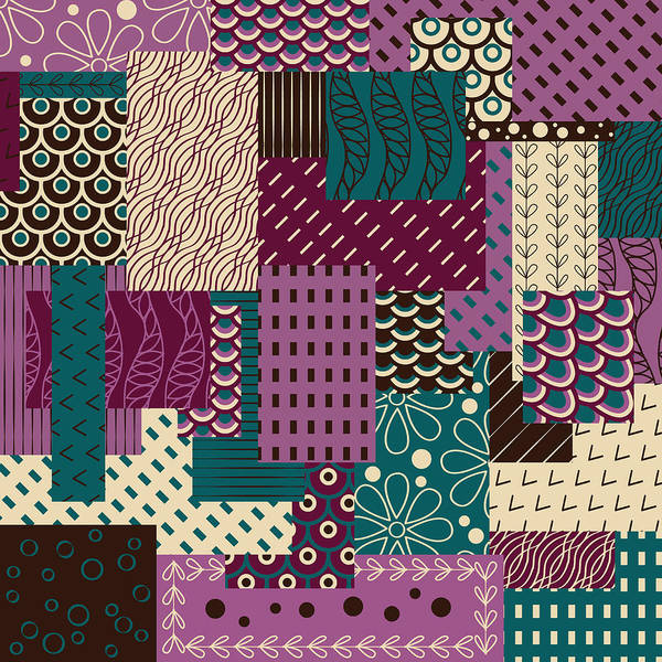 Wall Art - Digital Art - Blueberry Ice Cream Pattern by Veronica Kusjen