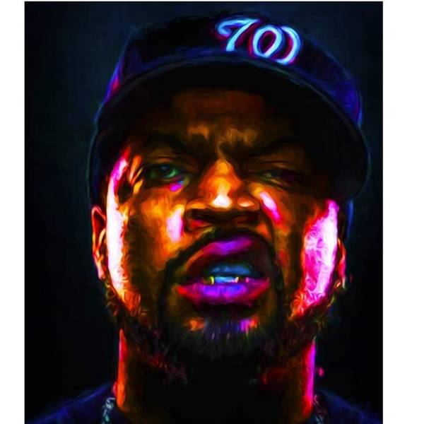 Celebrity Wall Art - Photograph - @icecube #icecube #osheajackson by David Haskett II