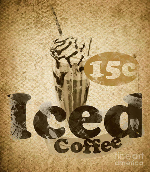 Wall Art - Photograph - Iced Coffee Cafe Tin Sign by Jorgo Photography - Wall Art Gallery