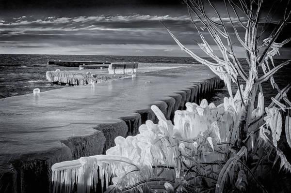 Photograph - Iced Pier by David Heilman