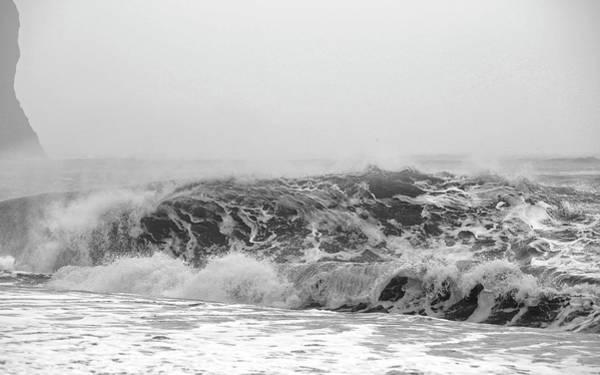 Wall Art - Photograph - Iceland Black Sand Beach Wave Three by Betsy Knapp