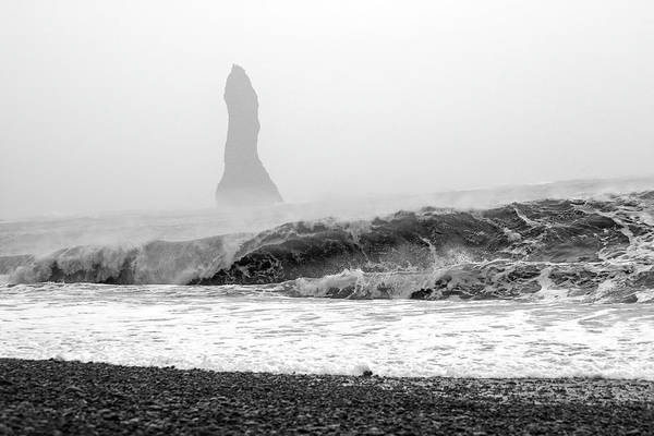 Wall Art - Photograph - Iceland Black Sand Beach Wave Two by Betsy Knapp