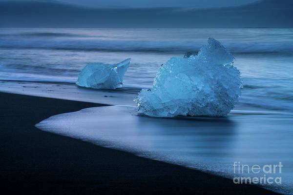 Wall Art - Photograph - Iceland Blue Ice Monolith by Mike Reid