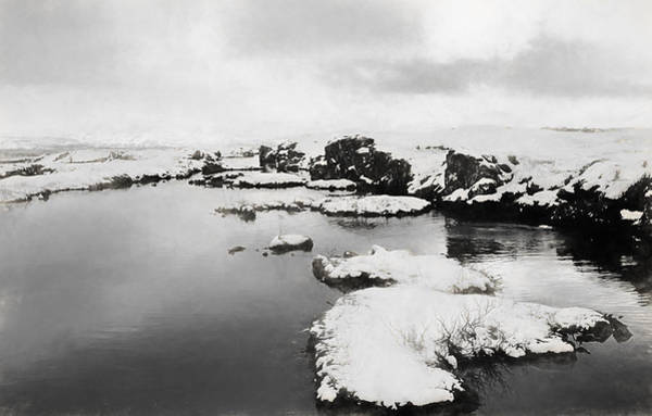 Icelandic Digital Art - Iceland Lake Charcoal by Roy Pedersen
