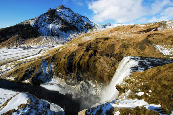 Photograph - Iceland Landscape With Skogafoss Waterfall by Matthias Hauser