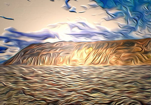 Iceland Digital Art - Iceland Landscape by Yury Malkov