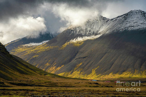 Wall Art - Photograph - Iceland Light Moves Through The Valley by Mike Reid