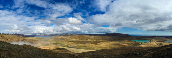 Iceland Panorama Image Geothermal Area Art Print