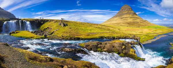Photograph - Iceland Panorama Kirkjufell Snaefellsnes by Matthias Hauser