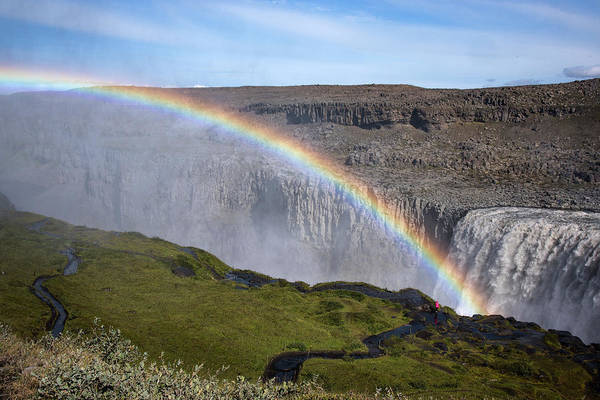 Photograph - Iceland Rainbow Waterfall by Dave Dilli