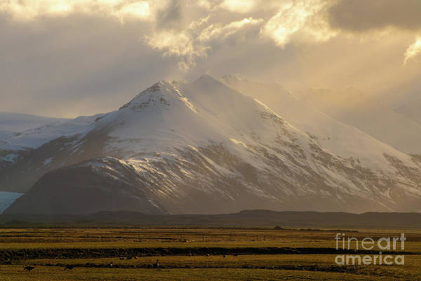 Wall Art - Photograph - Iceland Ring Road Mountains Sunset by Mike Reid