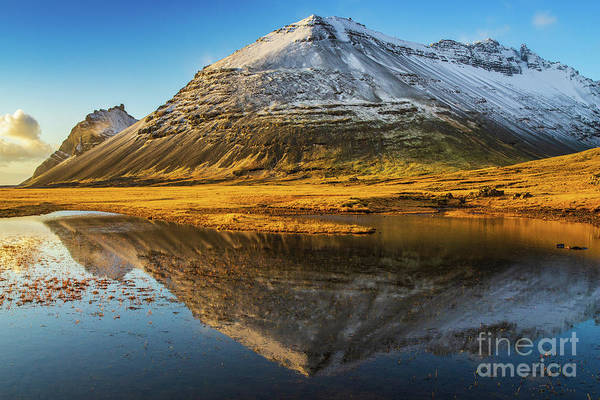 Wall Art - Photograph - Iceland Ring Road Snow Capped Peaks by Mike Reid