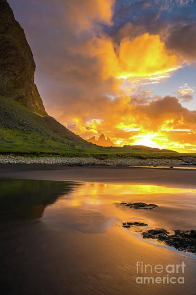 Wall Art - Photograph - Iceland Stokksnes Vestrahorn Sunrise by Mike Reid