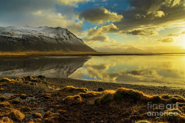 Wall Art - Photograph - Iceland Sunrise Tranquility Reflection by Mike Reid
