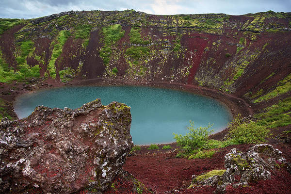 Volcanic Craters Photograph - Iceland Volcano Red Rocks by Dave Dilli
