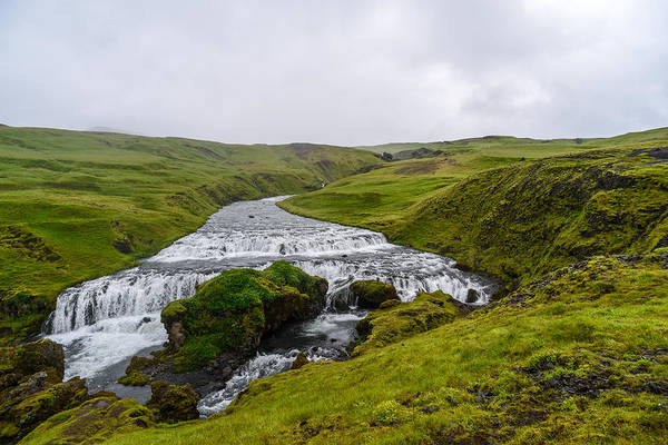 Photograph - Icelandic Cascade by Alex Blondeau