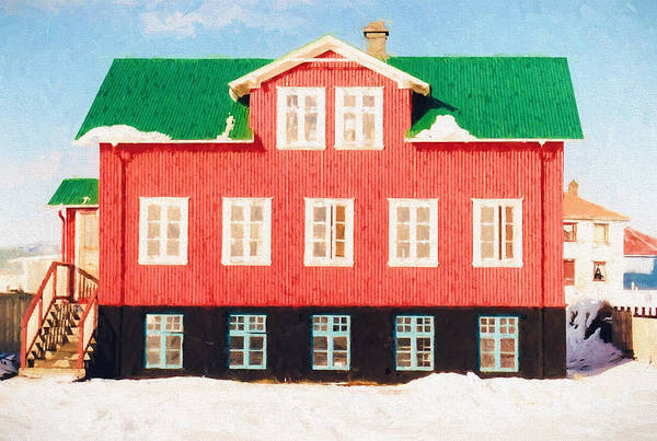Icelandic Digital Art - Icelandic House by Roy Pedersen