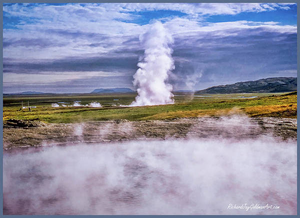 Photograph - Icelandic Hydrothermal Activity by Richard Goldman