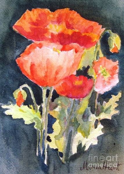 Wall Art - Painting - Icelandic Poppies by Maria Hunt