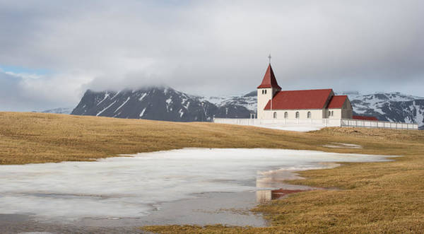Icelandic Landscapes Wall Art - Photograph - Icelandic Small Church by Michalakis Ppalis