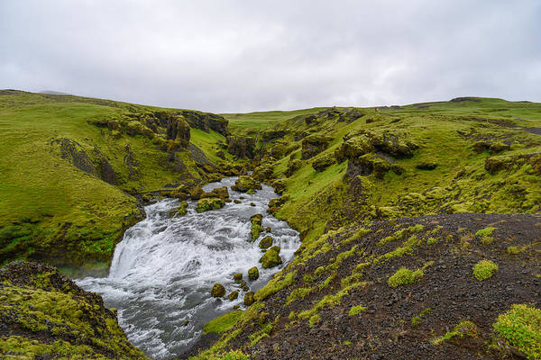 Photograph - Icelandic Waterfall by Alex Blondeau