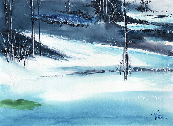 Painting - Icescape 3 by Anil Nene