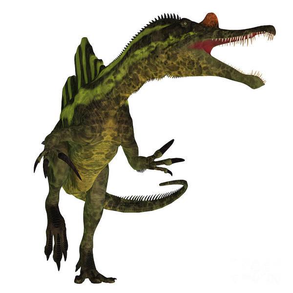 Primeval Painting - Ichthyovenator Dinosaur On White by Corey Ford