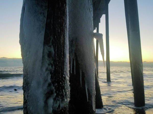 Photograph - Icicles At Sunrise by Robert Banach