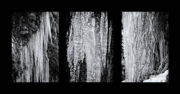 Photograph - Icicles Triptych B by Belinda Greb