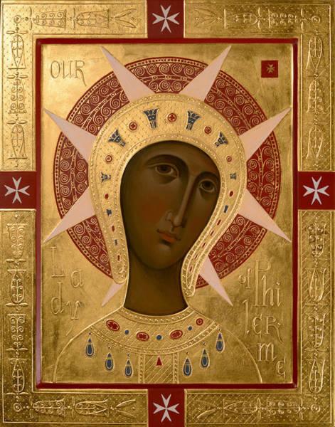 Egg Mixed Media - Icon Of Our Lady Of Filermo. by Olga Shalamova