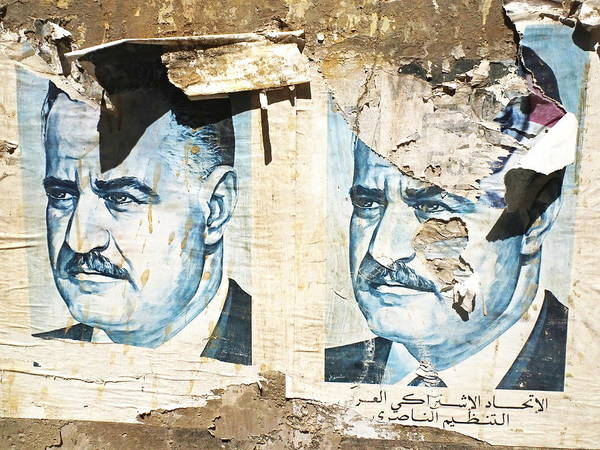 Arte Photograph - Iconic Arab Figures On Beirut Walls  by Funkpix Photo Hunter