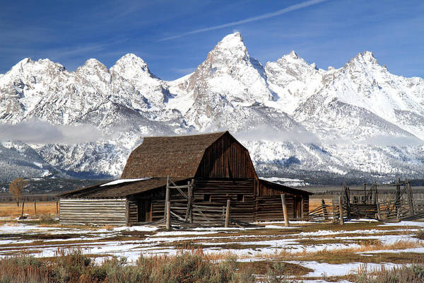 Photograph - Iconic Barn In Grand Teton National Park by Pierre Leclerc Photography
