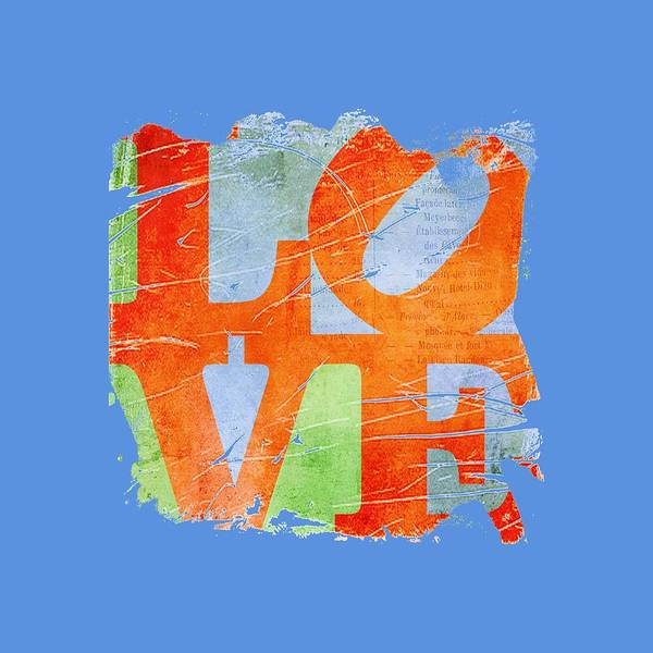 Wall Art - Digital Art - Iconic Love - Grunge by Paulette B Wright