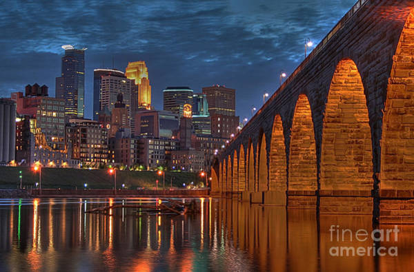 Minneapolis Photograph - Iconic Minneapolis Stone Arch Bridge by Wayne Moran