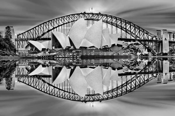 Architectural Digital Art - Iconic Reflections by Az Jackson
