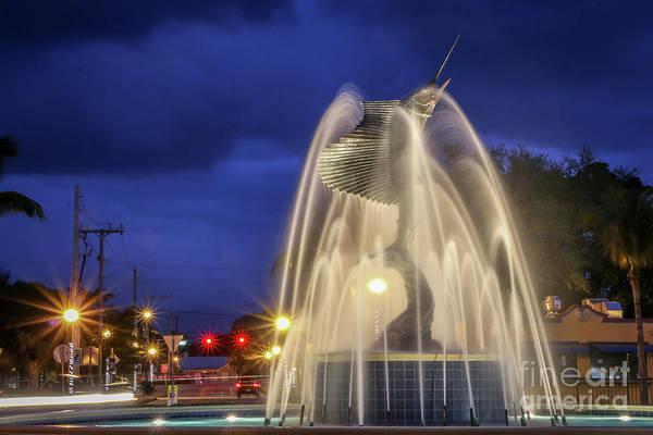 Photograph - Iconic Sailfish Fountain by Tom Claud