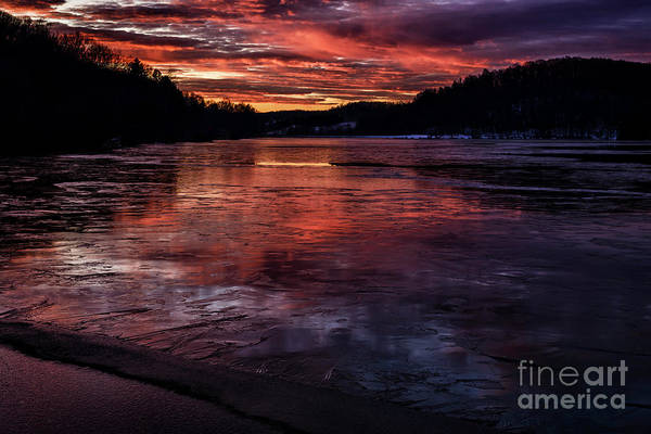 Photograph - Icy Dawn On The Lake by Thomas R Fletcher